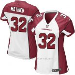 Camiseta Arizona Cardinals Mathieu Blanco Rojo Nike Game NFL Mujer