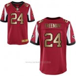 Camiseta Atlanta Falcons Freeman Rojo Nike Gold Elite NFL Hombre
