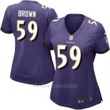 Camiseta Baltimore Ravens Brown Violeta Nike Game NFL Mujer