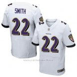 Camiseta Baltimore Ravens Smith Blanco Nike Elite NFL Hombre