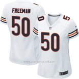 Camiseta Chicago Bears Freeman Blanco Nike Game NFL Mujer