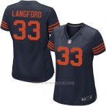 Camiseta Chicago Bears Langford Azul Nike Game NFL Mujer
