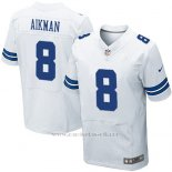 Camiseta Dallas Cowboys Aikman Blanco Nike Elite NFL Hombre