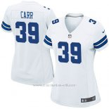 Camiseta Dallas Cowboys Carr Blanco Nike Game NFL Mujer