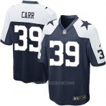 Camiseta Dallas Cowboys Carr Negro Blanco Nike Game NFL Nino