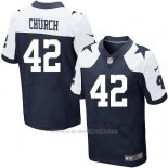 Camiseta Dallas Cowboys Church Profundo Azul y Blanco Nike Elite NFL Hombre