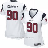 Camiseta Houston Texans Clowney Blanco Nike Game NFL Mujer