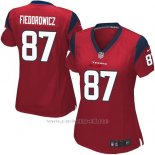 Camiseta Houston Texans Fiedorowicz Rojo Nike Game NFL Mujer