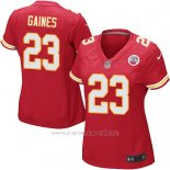 Camiseta Kansas City Chiefs Gaines Rojo Nike Game NFL Mujer
