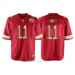 Camiseta Kansas City Chiefs Smith Rojo Nike Gold Game NFL Hombre
