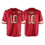Camiseta Kansas City Chiefs Streater Rojo Nike Gold Game NFL Hombre