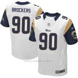 Camiseta Los Angeles Rams Brockers Blanco Nike Elite NFL Hombre