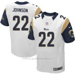 Camiseta Los Angeles Rams Johnson Blanco Nike Elite NFL Hombre