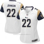 Camiseta Los Angeles Rams Johnson Blanco Nike Game NFL Mujer