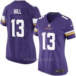 Camiseta Minnesota Vikings Hill Violeta Nike Game NFL Mujer