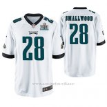 Camiseta NFL Game Hombre Philadelphia Eagles Wendell Smallwood Blanco Super Bowl Lii Champions