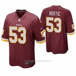 Camiseta NFL Game Hombre Washington Rojoskins Jon Bostic Rojo