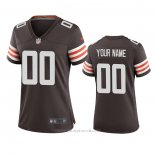 Camiseta NFL Game Mujer Cleveland Browns Personalizada 2020 Marron