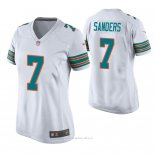 Camiseta NFL Game Mujer Miami Dolphins Jason Sanders Throwback Blanco
