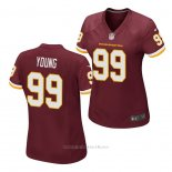 Camiseta NFL Game Mujer Washington Redskins Chase Young Rojo