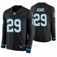 Camiseta NFL Hombre Carolina Panthers Mike Adams Negro Manga Larga