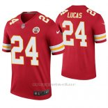 Camiseta NFL Legend Hombre Kansas City Chiefs Jordan Lucas Rojo Color Rush
