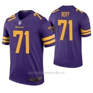 Camiseta NFL Legend Hombre Minnesota Vikings Riley Reiff Violeta Color Rush