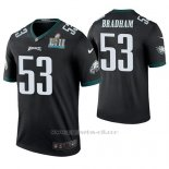 Camiseta NFL Legend Hombre Philadelphia Eagles Nigel Bradham Negro Super Bowl Lii Champions Color Rush