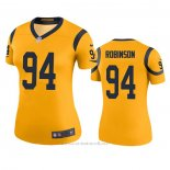 Camiseta NFL Legend Mujer Los Angeles Rams A'shawn Robinson Oro Color Rush