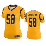 Camiseta NFL Legend Mujer Los Angeles Rams Clay Johnston Oro Color Rush
