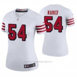 Camiseta NFL Legend Mujer San Francisco 49ers Fred Warner Blanco Color Rush