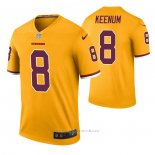 Camiseta NFL Legend Washington Redskins Case Keenum Color Rush Amarillo