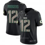 Camiseta NFL Limited Green Bay Packers Rodgers Black Impact