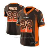 Camiseta NFL Limited Hombre Cleveland Browns Jabrill Peppers Marron 2018 Drift Fashion Color Rush