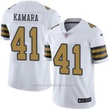 Camiseta NFL Limited Hombre New Orleans Saints 41 Alvin Kamara Blanco Stitched Rush