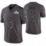 Camiseta NFL Limited Hombre New Orleans Saints Drew Brees Gris Super Bowl LIII