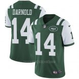 Camiseta NFL Limited Hombre New York Jets 14 Sam Darnold Verde Stitched Vapor Untouchable