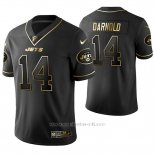 Camiseta NFL Limited Hombre New York Jets Sam Darnold Golden Edition Negro