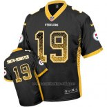 Camiseta NFL Limited Hombre Pittsburgh Steelers 19 Juju Smith Schuster Negro Stitched Drift Fashion