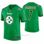 Camiseta NFL Limited Hombre Pittsburgh Steelers Ben Roethlisberger St. Patrick's Day Verde