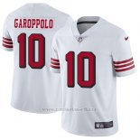 Camiseta NFL Limited Hombre San Francisco 49ers 10 Jimmy Garoppolo Blanco Rush Stitched Vapor Untouchable