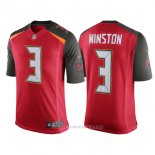 Camiseta NFL Limited Hombre Tampa Bay Buccaneers 3 Jameis Winston Speed Machine Limited Rojo