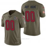 Camiseta NFL Limited Houston Texans Personalizada 2017 Salute To Service Verde
