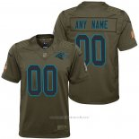 Camiseta NFL Limited Nino Carolina Panthers Personalizada Salute To Service Verde