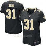 Camiseta New Orleans Saints Byrd Negro Nike Game NFL Mujer