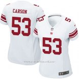 Camiseta New York Giants Carson Blanco Nike Game NFL Mujer