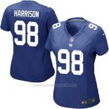 Camiseta New York Giants Harrison Azul Nike Game NFL Mujer
