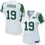 Camiseta New York Jets Johnson Blanco Nike Game NFL Mujer