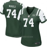 Camiseta New York Jets Mangold Verde Nike Game NFL Mujer