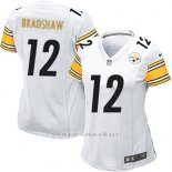 Camiseta Pittsburgh Steelers Bradshaw Blanco Nike Game NFL Mujer